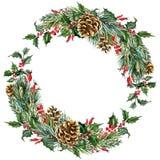 Guirnalda de la Navidad de la acuarela del vector ilustración del vector