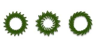 Guirnalda de la Navidad Decoraciones realistas de la Navidad hechas de ramas de árbol de abeto Conjunto de la guirnalda Libre Illustration