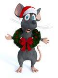 Guirnalda de la Navidad del ratón de la historieta que lleva ilustración del vector