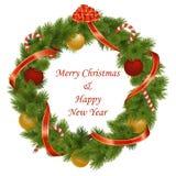 Guirnalda de la Navidad del vector Fotos de archivo