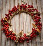 Guirnalda de la Navidad en el paño fotografía de archivo