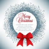 Guirnalda de la Navidad hecha de notas musicales stock de ilustración