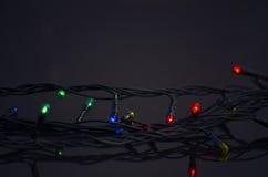 Guirnalda de la Navidad que brilla intensamente Fotografía de archivo
