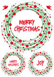 Guirnalda de la Navidad, sistema del vector Imagen de archivo