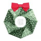 Guirnalda de la papiroflexia de la Navidad Fotografía de archivo libre de regalías