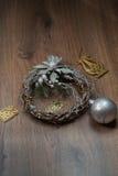 Guirnalda de la plata de la Navidad Imagen de archivo libre de regalías