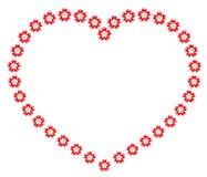 Guirnalda de la tarjeta del día de San Valentín de flores Foto de archivo
