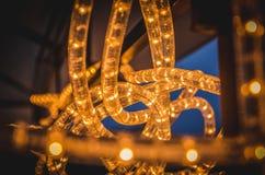 Guirnalda de la tecnología del LED que brilla intensamente Fotos de archivo