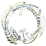 Guirnalda de las flores de la acuarela Fotografía de archivo libre de regalías