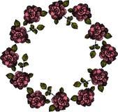 Guirnalda de las rosas dibujadas a mano Vector ilustración del vector