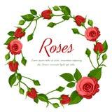Guirnalda de las rosas rojas Foto de archivo