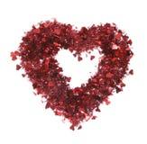 Guirnalda de las tarjetas del día de San Valentín Foto de archivo libre de regalías