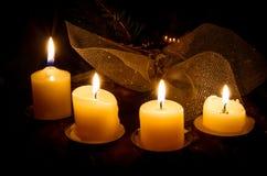 Guirnalda de las velas del advenimiento Fotos de archivo