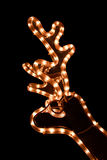 Guirnalda de los ciervos de la Navidad imagen de archivo