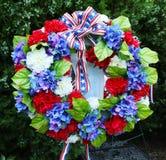 Guirnalda de Memorial Day de flores Fotografía de archivo