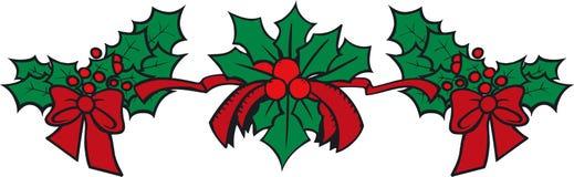 Guirnalda de Navidad stock de ilustración