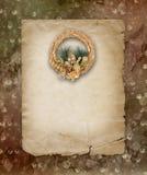 Guirnalda de oro de la Navidad Fotos de archivo