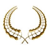 Guirnalda de oro del laurel Imágenes de archivo libres de regalías