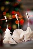 Guirnalda de papel de la Navidad Decoración de la Navidad Fotos de archivo libres de regalías