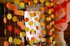 Guirnalda de papel floral Foto de archivo