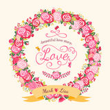 Guirnalda de rosas Imágenes de archivo libres de regalías