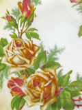 GUIRNALDA DE ROSE DEL VINTAGE EN ROSA, VERDE Y SEPIA Foto de archivo libre de regalías