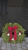 Guirnalda de Viet Nam Memorial y de la Navidad Imagen de archivo libre de regalías