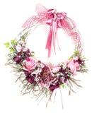 Guirnalda decorativa colorida de la acción de gracias para la puerta con las flores aisladas Imágenes de archivo libres de regalías