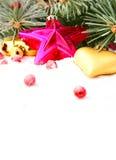 Guirnalda del árbol de navidad Fotos de archivo libres de regalías