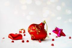 Guirnalda del árbol de navidad Fotografía de archivo