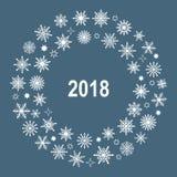 Guirnalda del Año Nuevo de copos de nieve Imágenes de archivo libres de regalías