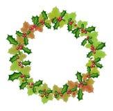 Guirnalda del Año Nuevo y de la Navidad Imagen de archivo libre de regalías