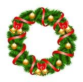 Guirnalda del abeto de la Navidad Foto de archivo libre de regalías