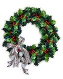Guirnalda del acebo de la Navidad Fotografía de archivo