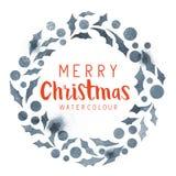 Guirnalda del acebo de la Navidad Imágenes de archivo libres de regalías