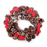 Guirnalda del advenimiento de la Navidad en blanco Foto de archivo libre de regalías