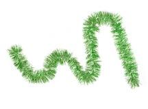 Guirnalda del color verde de la Navidad Imagen de archivo libre de regalías
