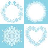 Guirnalda del cristal de la nieve Imagen de archivo libre de regalías