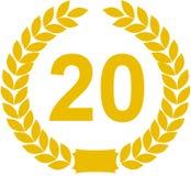 Guirnalda del laurel 20 años Fotografía de archivo