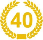 Guirnalda del laurel 40 años Fotografía de archivo
