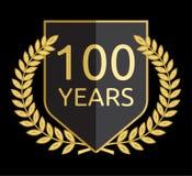 Guirnalda del laurel 100 años Imágenes de archivo libres de regalías