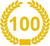 Guirnalda del laurel del número 100 Fotografía de archivo
