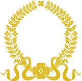 Guirnalda del laurel del oro Foto de archivo libre de regalías