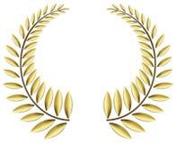 Guirnalda del laurel del oro Imágenes de archivo libres de regalías
