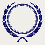 Guirnalda del laurel del vector Foto de archivo libre de regalías