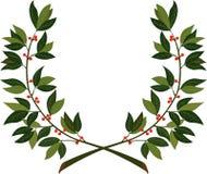 Guirnalda del laurel - símbolo de la victoria y del logro ilustración del vector