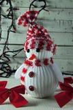 Guirnalda del muñeco de nieve y de la Navidad Imagen de archivo