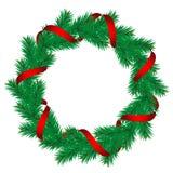 Guirnalda del pino de la Navidad Fotografía de archivo libre de regalías