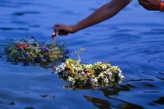 Guirnalda del río Foto de archivo libre de regalías