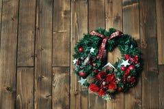 Guirnalda del ` s del Año Nuevo El concepto de la Navidad Foto de archivo
